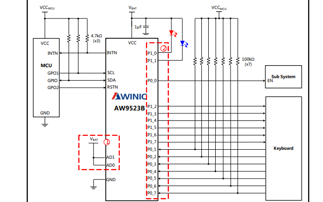 AW9523B多功能LED驅動器和帶I2C接口的GPIO控制器數據手冊免費下載