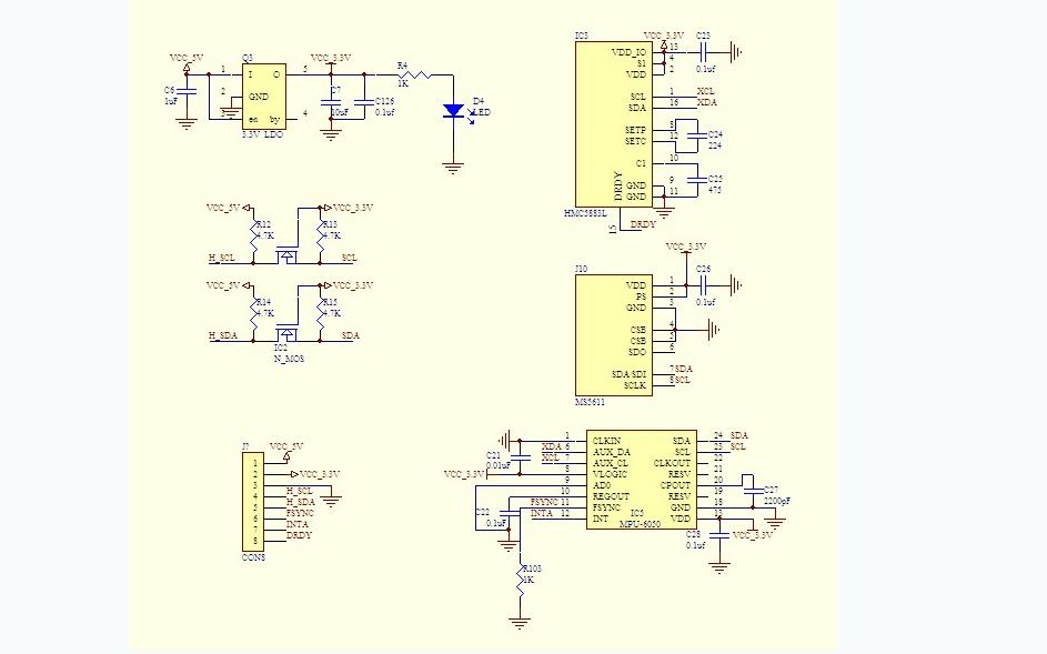 STM32F103VCT6飛控硬件設計原理圖庫資料合集免費下載