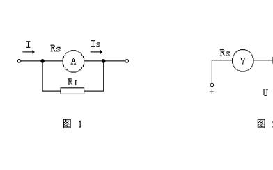 直流电流表和电压表量程变换使用的计算说明
