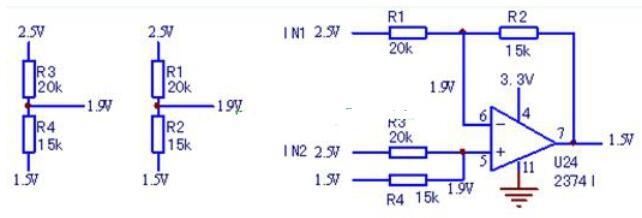 偏置电压的差分放大器电路