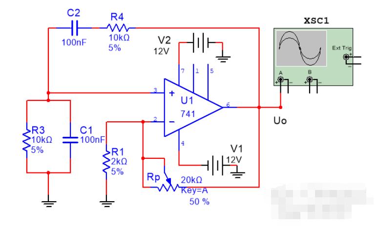 计算文氏桥振荡器的电路总增益