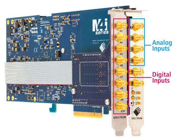 Spectrum儀器PCIe數字化儀可額外擴展8個數字輸入