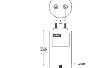 CDE增强交流谐波滤波电容器的电流,高达85A