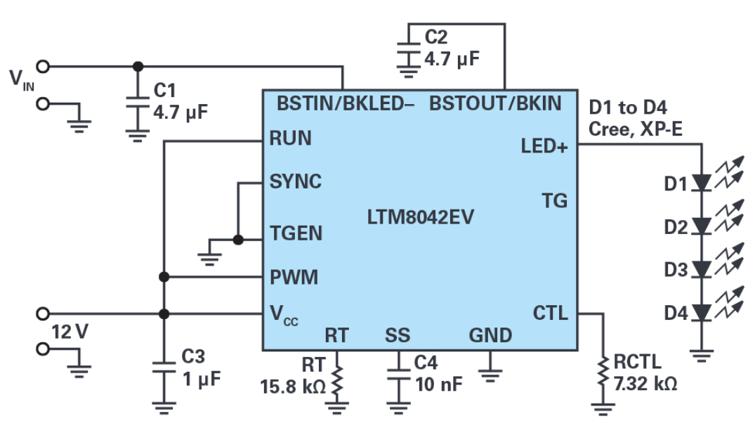多功能LED驱动器可使用高于或低于LED灯串电平...