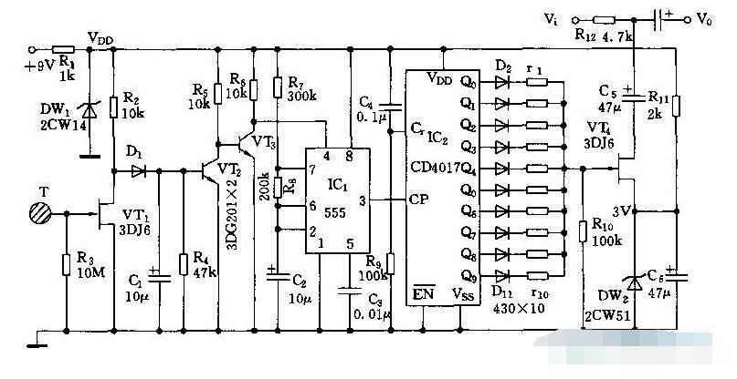 十档音量调节电路图解析