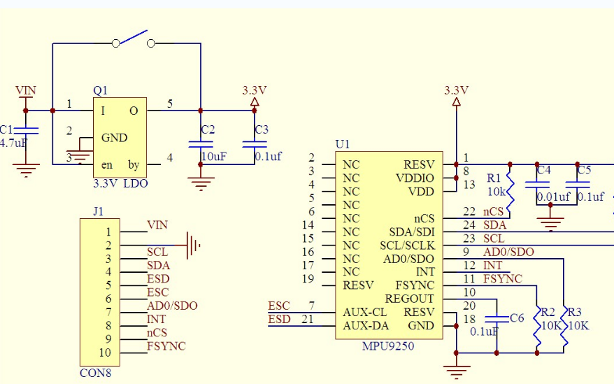MPU9250九軸9軸姿態加速度陀螺儀傳感器的資料合集免費下載