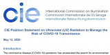 CIE發布關于使用紫外線輻射管理COVID-19傳播風險的立場聲明