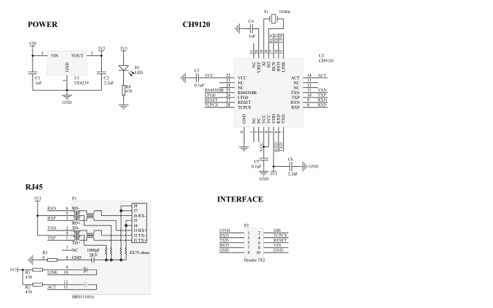 CH9120串口转以太网芯片的资料合集免费下载