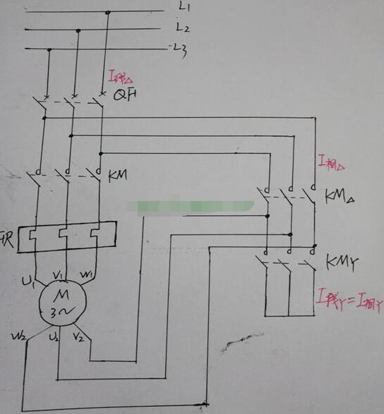 星三角降壓啟動電路中電流的變化關係與接觸器的選型