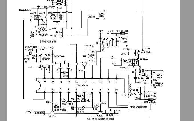 使用EM78P458單片機設計智能坐便器的資料說明