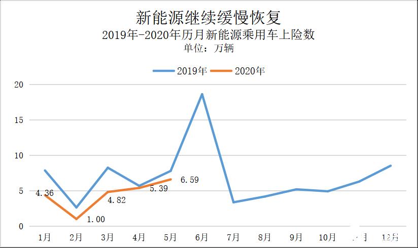 5月份私人纯电动市场持续增长,实现同比和环比正增长