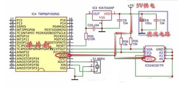 空调单片机工作的电路分析