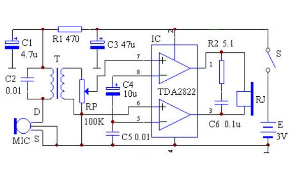 TDA2822小功放模块的使用资料合集