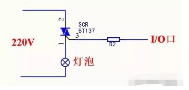用单片机控制220V交流电的通断方法