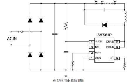 SM7381P非隔离降压型LED恒流驱动芯片的数据手册免费下载