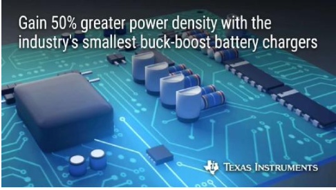 TI introduces industry's smaller buck-boost battery charger integrated circuit