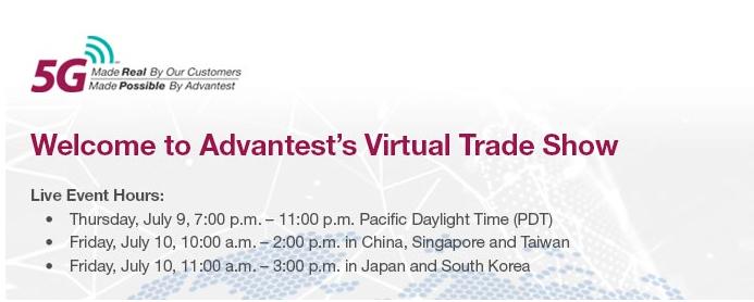 Advantest将主办直播虚拟贸易展,向亚洲客...