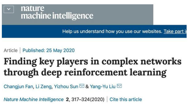 中国科学家开发深度强化学习框架:有效率识别复杂网络