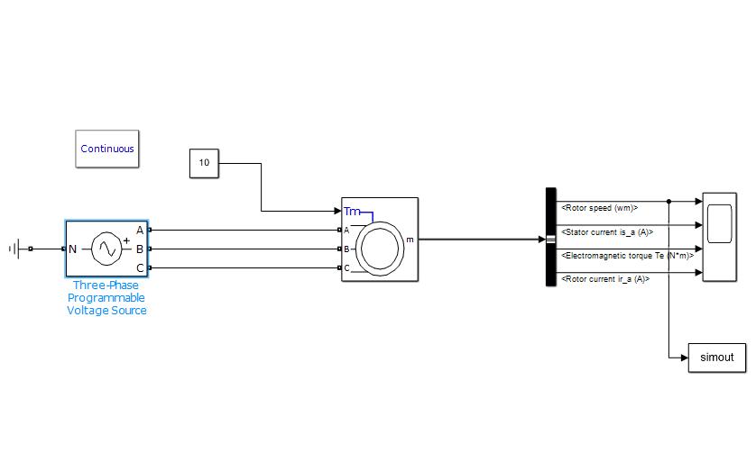 使用Simulink实现三相异步电动机的起动和调速特性的仿真分析