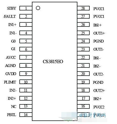 CS3815EO功能和特性_CS3815EO内部方框图