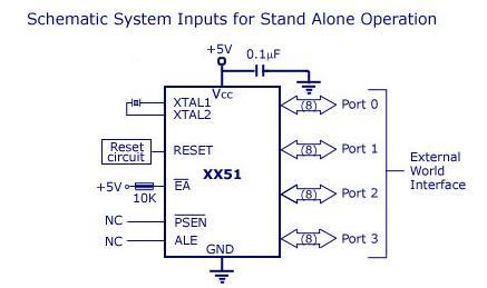 8051单片机架构_封装及原理图