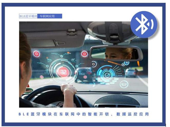 BLE蓝牙模块在车联网中的智能开锁、数据监控应用