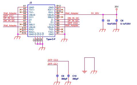 Type-C HUB接口的电路原理图免费下载