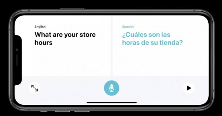 苹果提供11种语言的实时翻译,甚至是离线语言