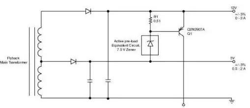 关于多路输出反激式转换器的有源并联稳压器