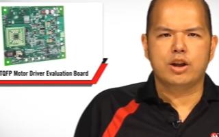 MCP8024 TQFP電機驅動器評估板的組成部...