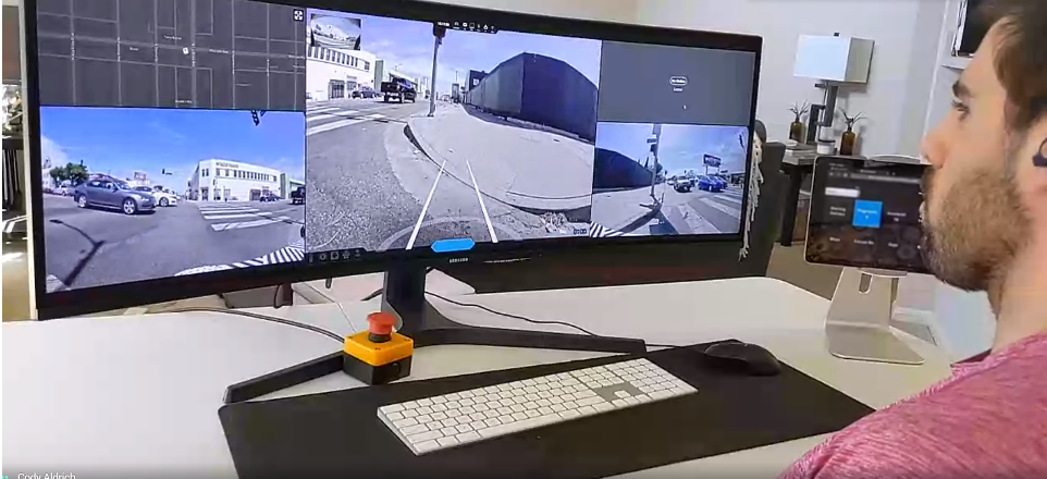 实时视频管理一组机器人时,即使是1 GB的光纤连...