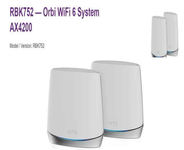 Netgear推出新型Wi-Fi6的Orbi M...