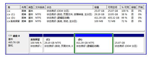 预装Win7系统划分更多的磁盘分区的方法
