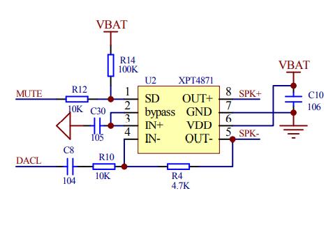 AC6919C蓝牙芯片实现的纯蓝牙音箱电路原理图免费下载