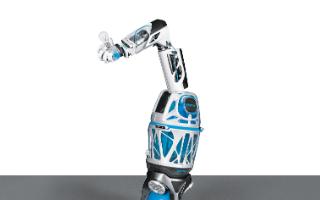 移动机器人和仿生软手结合实现完整的气动机器人系统