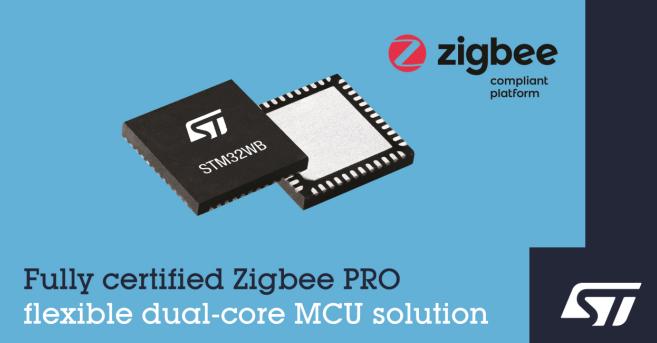 意法半導體STM32WB無線微控制器現可支持Zigbee 3.0