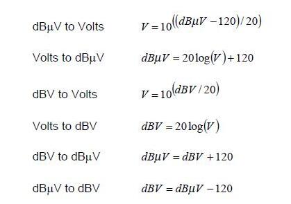 EMC工作中常用的公式