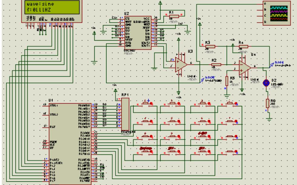 使用AT89S52单片机实现函数信号发生器的设计资料说明