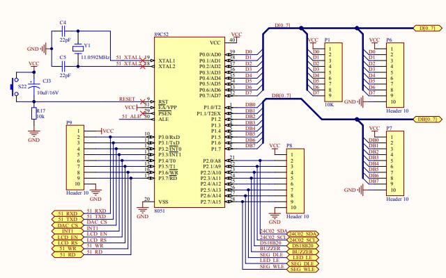 TX-1C型单片机开发板的电路原理图免费下载
