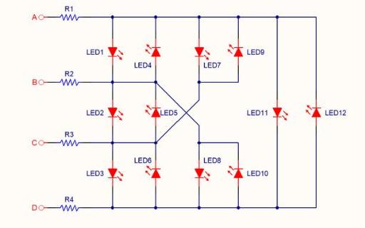 单片机驱动多个LED指示灯IO口不够的解决方法说明