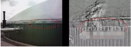 采用FLIR GF320红外热像仪检测沼气设施中的气体泄漏