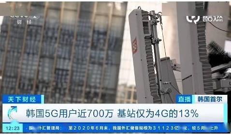 5月底韩国5G用户已超过687万,资费比4G高出...