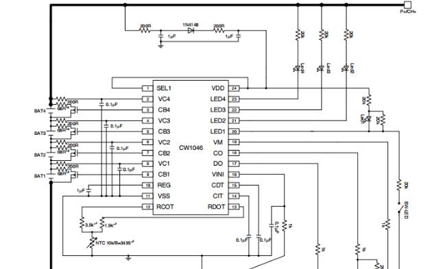 CW1046电池均衡保护芯片的数据手册免费下载