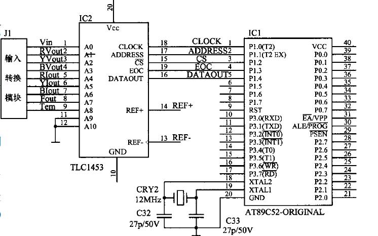如何使用AT89C52和TLC1543实现数据采集系统的设计资料说明