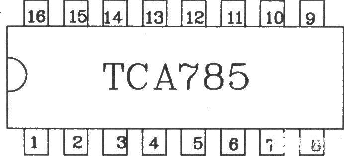 由TCA785可控硅移相触发器实现的三相全控桥触发电路