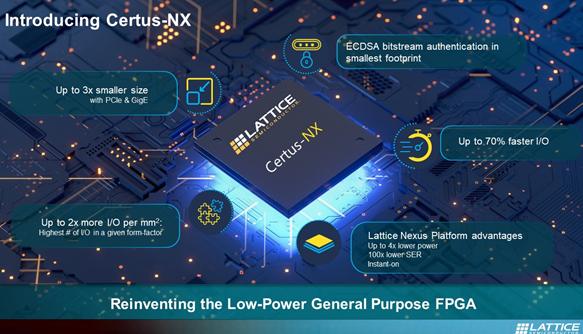 莱迪思Certus-NX FPGA的性能及应用范围分析