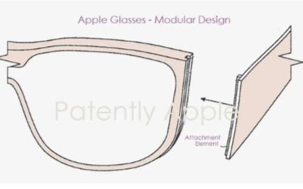 苹果新专利展示了一种高度模块化AR眼镜设计