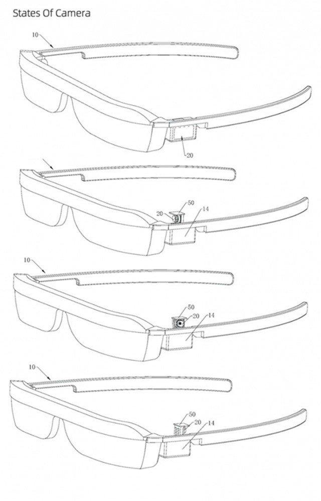 华为AR智能眼镜新专利:或会采用弹出式摄像头