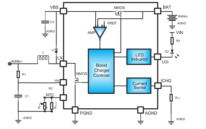 HM4038B升压充电管理IC的数据手册免费下载