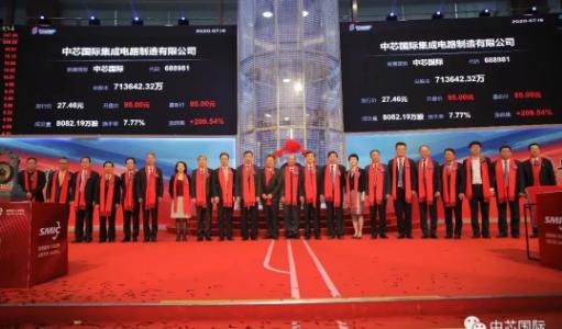 """首日暴漲245%,中芯國際登陸創業板開啟振""""芯""""征程"""